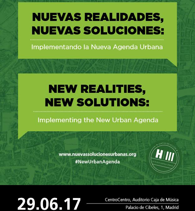 AGENDA URBANA ONU HABITAT:  JORNADA NUEVAS REALIDADES, NUEVAS SOLUCIONES