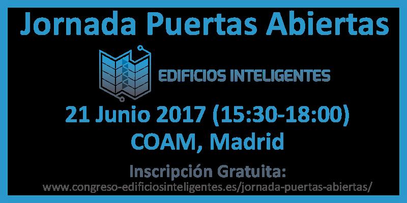 Invitación: JORNADA PUERTAS ABIERTAS: CONGRESO EDIFICIOS INTELIGENTES