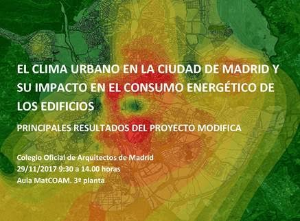 Jornada sobre clima urbano y consumo energético de edificios. 29/11. COAM