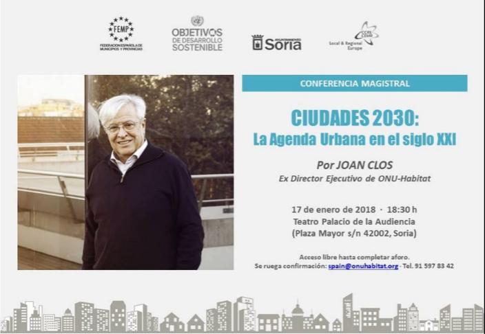 CONGRESO CIUDADES 2030: La Agenda Urbana del siglo XXI. Soria 16-19 enero