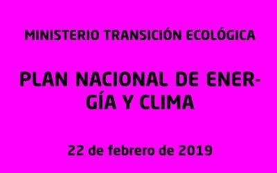 PLAN NACIONAL INTEGRADO DE ENERGÍA Y CLIMA 2021-2030